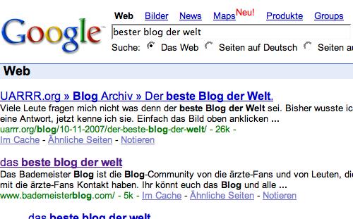 Der beste Blog der Welt.
